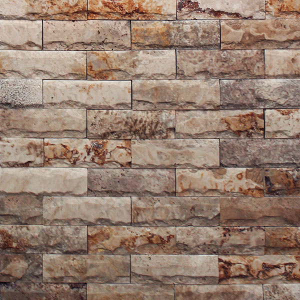 Albertino Travertine Splitface Ledgestone Tile And Stone