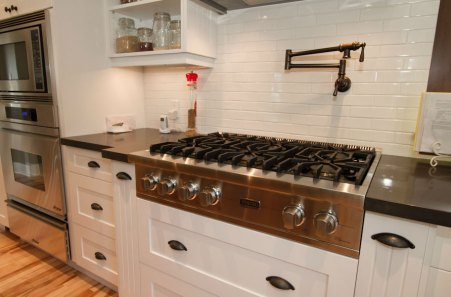 Soho White Ceramic tile backsplash install
