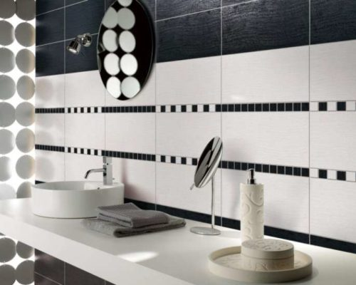 Simplex Pure Lappato Porcelain Tile installed in a bathroom