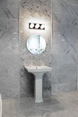 Edmonton Marble bathroom install with a beautiful sink