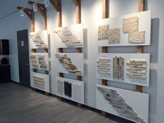 Edmonton Splitface and Ledgestone display