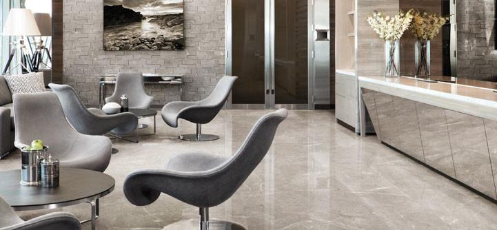 Ritz Gray Marble Ledgestone and Tile Installed