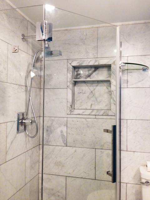 Bianco Carrara installed in a shower