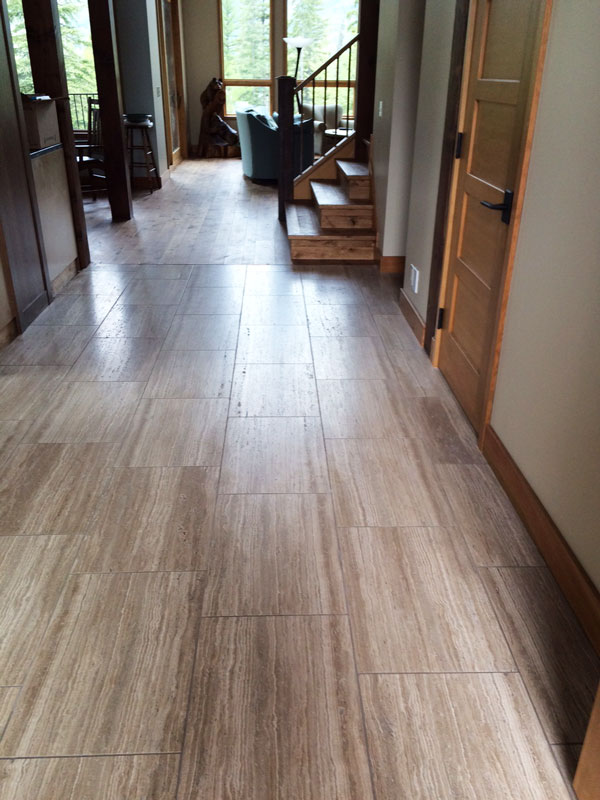 Wooden White Marble installed on a floor