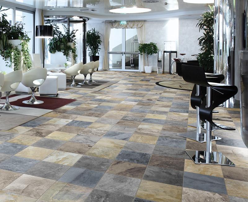 Driftwood Slate installed in a hair salon