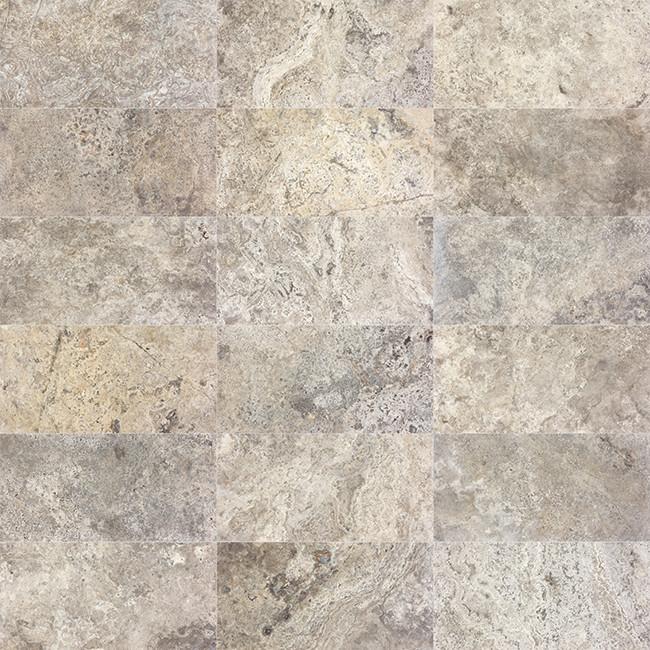 Silver Travertine Darkest Variations