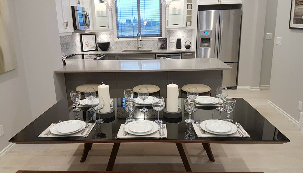 Bianco Carrara Marble Lantern Mosaic as a kitchen backsplash