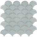 Element Cloud Scallop Glass Mosaic