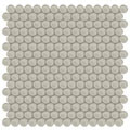 Element Earth Penny Round Glass Mosaic