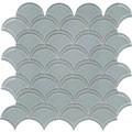 Element Shadow Scallop Glass Mosaic
