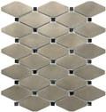 Satin Metal Nickel Clipped Diamond Mosaic