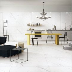 Living Room With Tiles Redecorate My Falakro White Porcelain Installed In An Open Concept Kitchen And