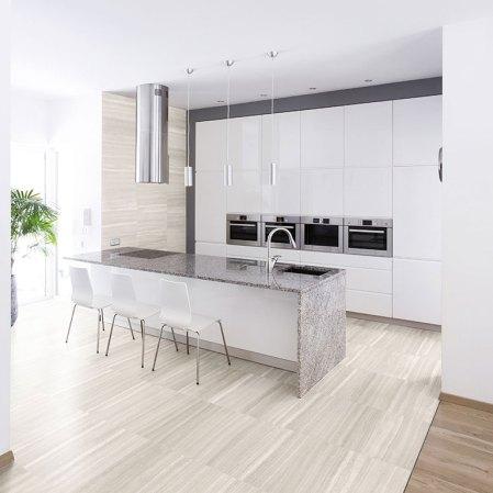Mayfair Strada Ash porcelain tile installed in a kitchen