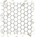 "Mayfair 1.25""x1.25"" Hexagon Mosaic Calacatta Oro Polished"