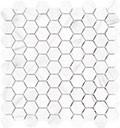 "Mayfair 1.25""x1.25"" Hexagon Mosaic Volakas Grigio Polished"