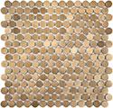 Satin Bronze Penny Round Mosaic