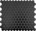 Color Collection Black 1 inch Hexagon Mosaic Matte