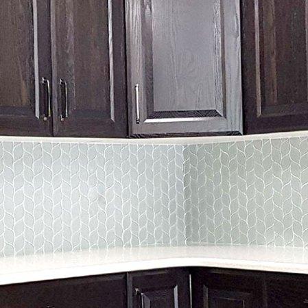 Element Shadow Petal Backsplash Installation