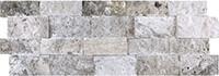 Travertine Ledgestone Silver 7x20 Splitface