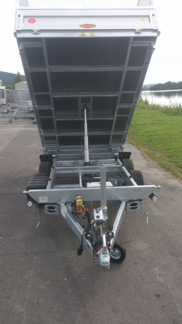 Böckmann DK-AL 321835 slimline tipphenger med 100 cm grindsett åpen forfra