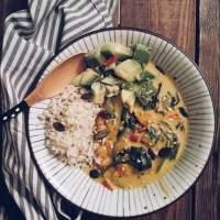 Curry di zucca e bietoline al latte di cocco
