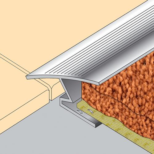 12mm tile to carpet zigzag edge