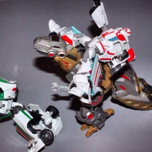 Only Optimus and sometimes Wheelie may ride Grimlock!