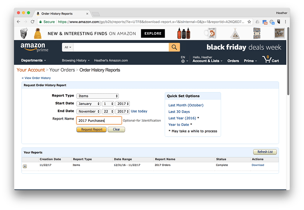 Get Your Amazon Order Line Item Details Into A Google Sheet