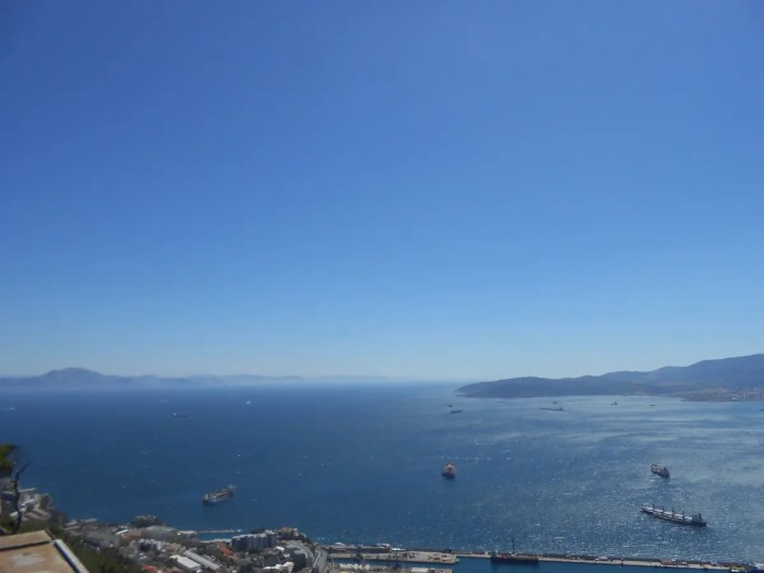 View of Africa from Gibraltar