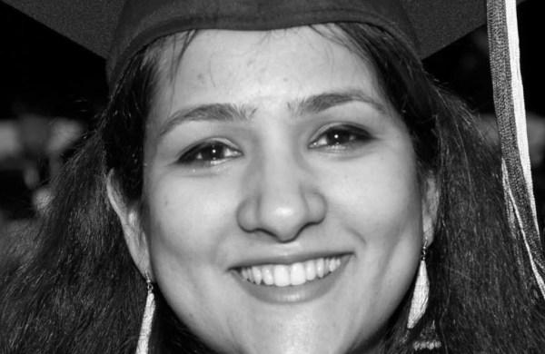 A smiling college graduate: Wajiha Saqib