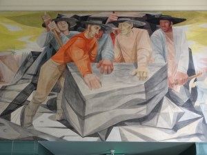 """""""Anton Refregier mural - Building the Railroad (detail)"""" by jimforest is licensed under CC BY-NC-ND 2.0"""