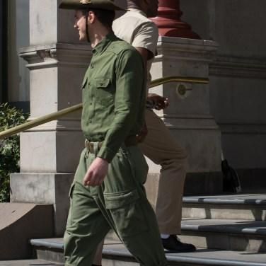 "Nik Morris as Australian Private ""Wilson"" with Christopher Kirby as USA ""Captain Johnson"""