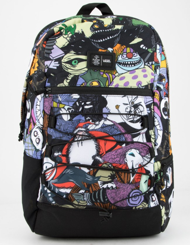 Jack Skellington, Sally, Oogie Boogie, Zero, and all the residents of Halloween Town on the Snag Plus backpack.