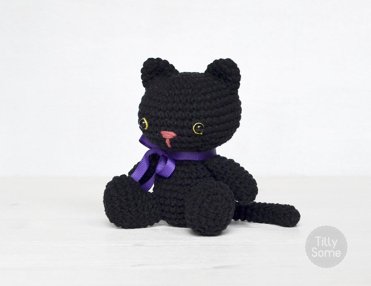 Amigurumi Black Cat Free Crochet Pattern Tillysome