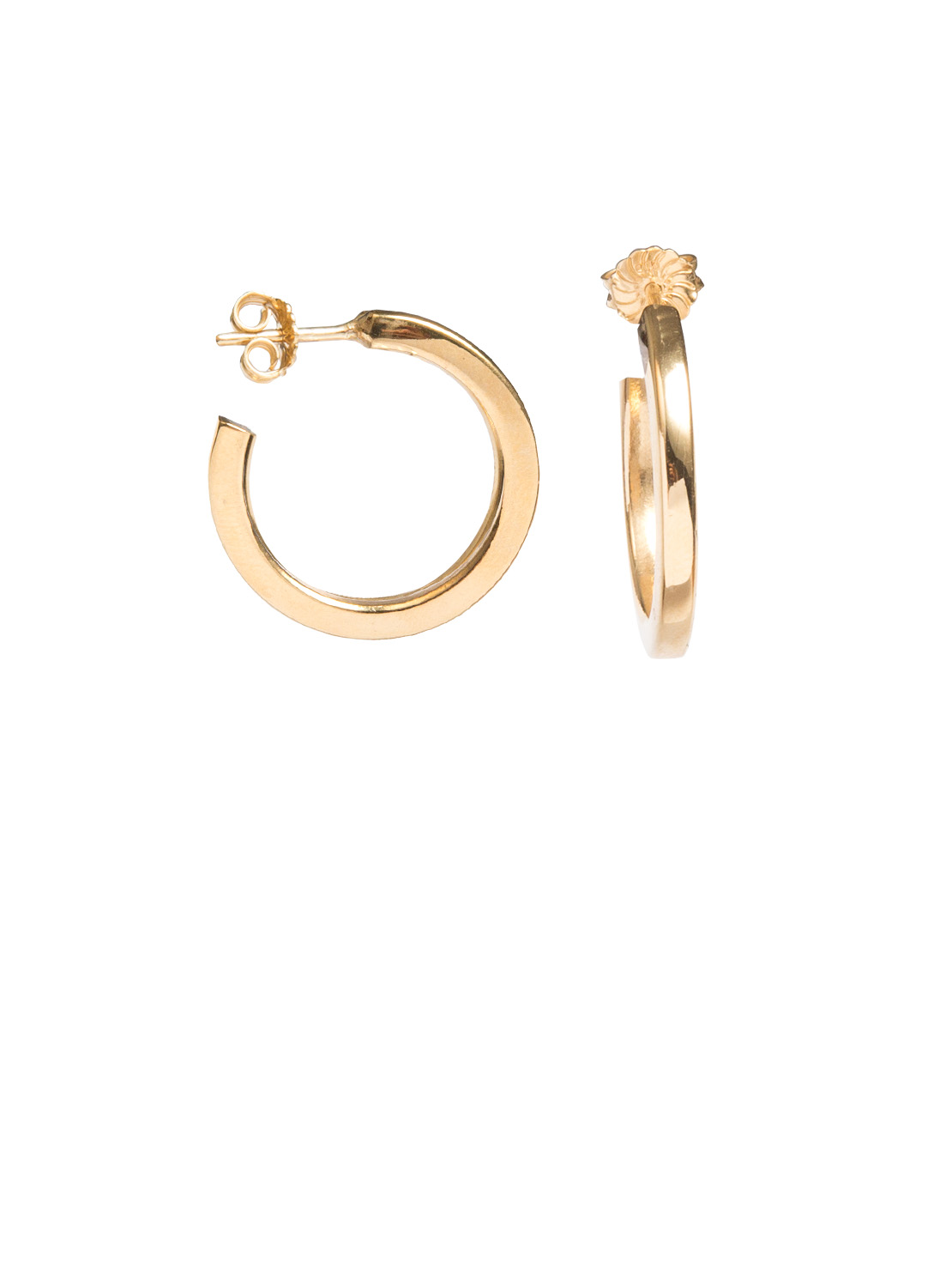 square edged gold hoop