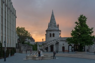 Sunset over Fisherman's Bastion