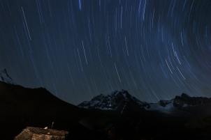 Manaslu view at night