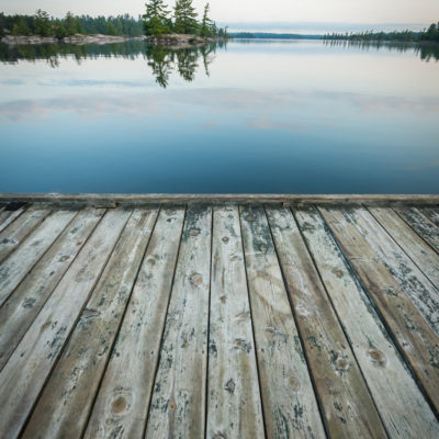 peaceful view of the french river