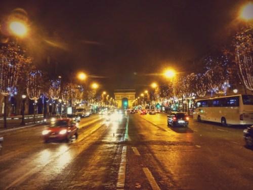 Paris - Champs-Élysées with Holiday Lights