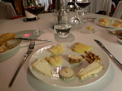 My limited cheese selections at dinner at Abbaye de Maizieres
