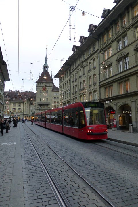Old Town Bern - Tram & Clock Tower