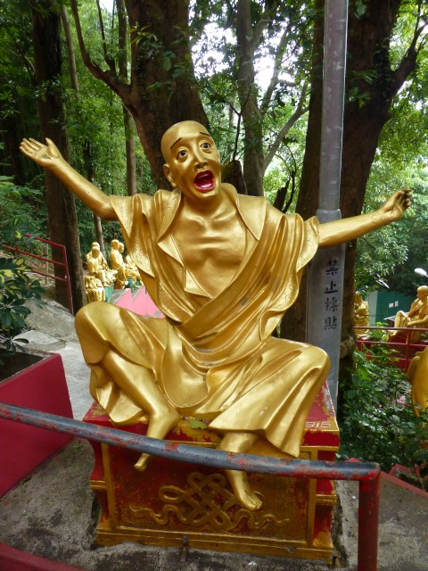 "I caught a fish ""this big"" Buddha"