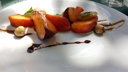 Stone Fruit Salad - Perfectly ripened Oregon stone fruit makes me very happy.
