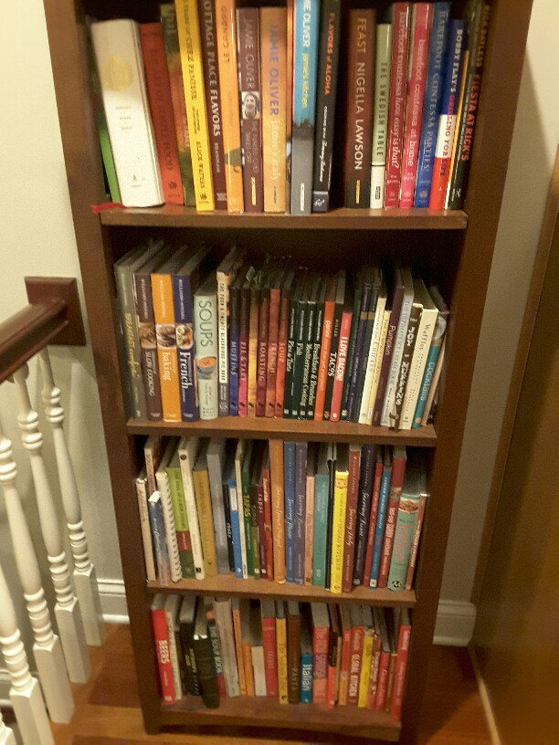 Cook book shelves