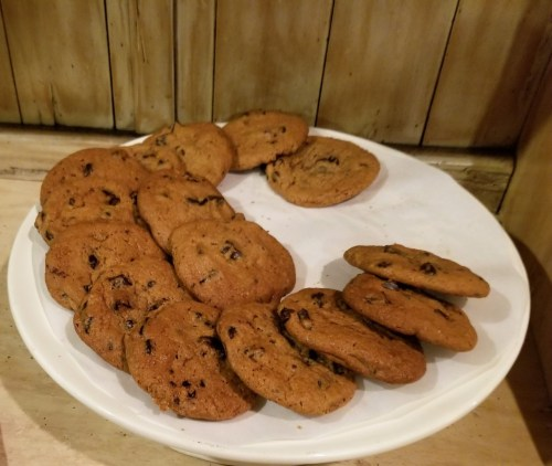 Chocolate chip cookies to round out your experience.