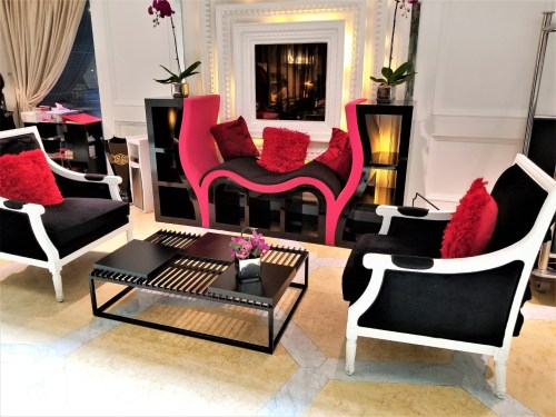 High Contrast Lobby Seating Area