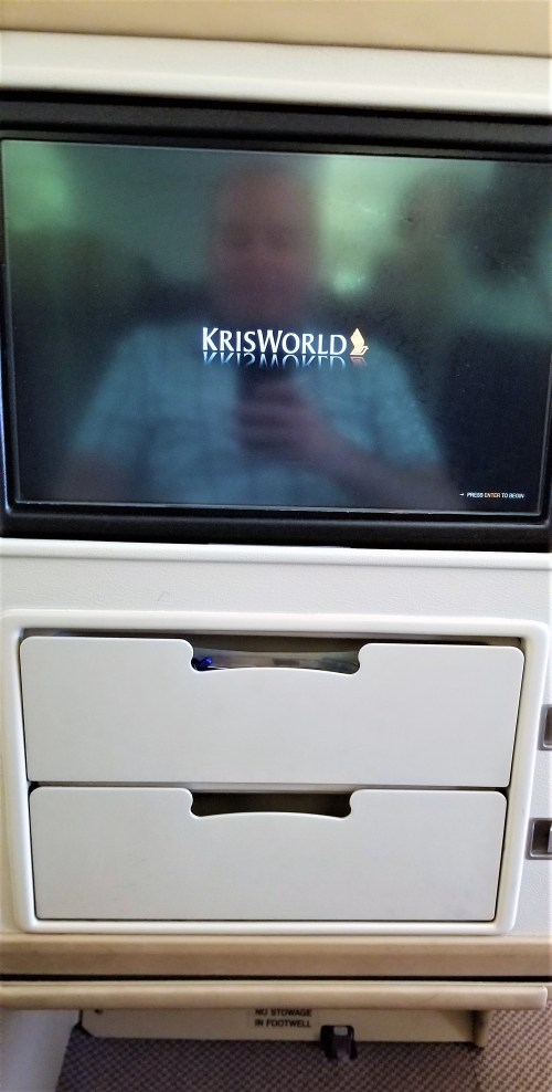 In-Flight Entertainment and In-Flight Selfie Reflection