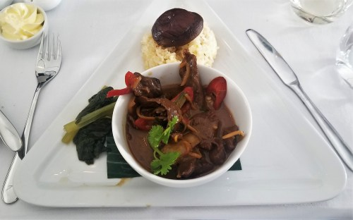 Main course - Stir Fried Beef on Austrian Airlines