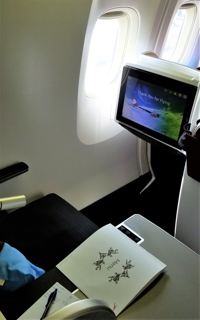 Windowless Business Class Seat on Austrian