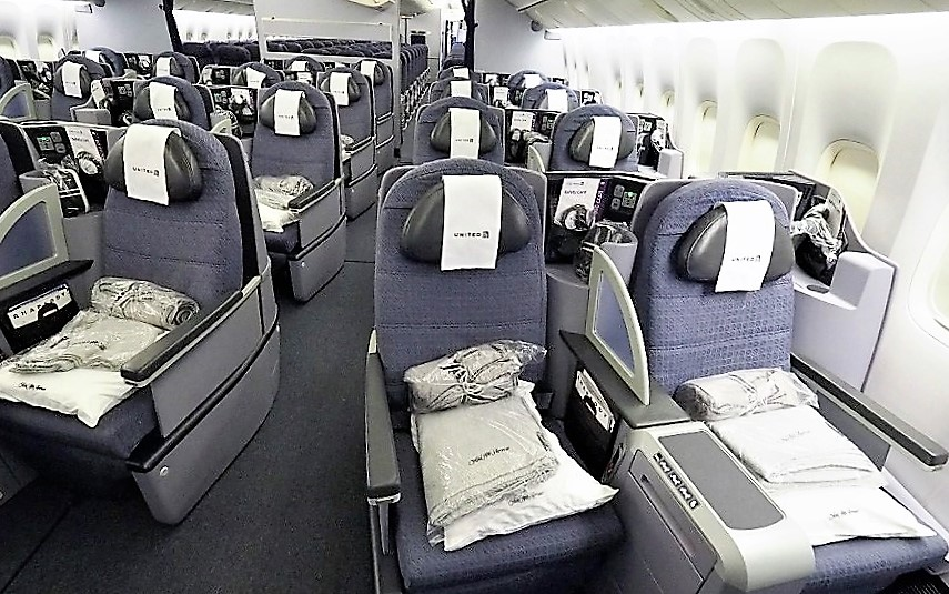 United 777-200 Business Class